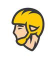 pelota athlete in helmet sign vector image vector image