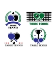 ping-pong and table tennis symbols vector image vector image