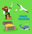 pirate treasure adventure sea nautical vector image
