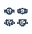 real estate logotype collection classic styles vector image vector image