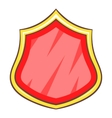 Red blank protection shield icon cartoon style vector image vector image