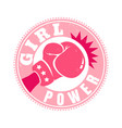 retro emblem for women boxing vector image vector image