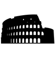 roman coliseum silhouette vector image vector image