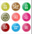sale colorful stickers collection 2 vector image vector image