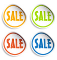 sale sign stickers vector image vector image