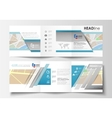 Set of business templates for square tri fold vector image vector image