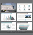 set of green and gray brown elements for vector image vector image