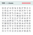 set premium thin line icons vector image vector image