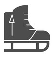 skates solid icon skating equipment vector image