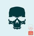 skull icon grunge skull symbol design vector image