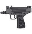 Small automatic gun vector image vector image