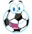 Soccer Ball Cartoon Character vector image vector image