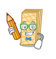 student waffle character cartoon style vector image