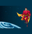 superhero flying in space vector image vector image