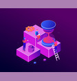 time management - modern colorful isometric vector image