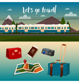 time to travel train vector image vector image