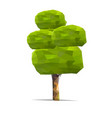 tree low poly style geometric poligonal vector image
