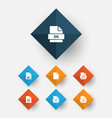 types icons set collection of backup vector image vector image