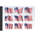 usa wavy flags set united states patriotic vector image vector image