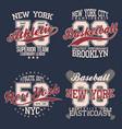 vintage labels set athletic sport typography vector image vector image