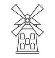 Windmill icon outline style vector image vector image