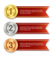 winner products medal tags vector image