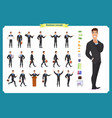 young businessmandifferent poses and emotions vector image vector image