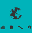 globe earth icon flat vector image