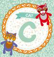 ABC animals C is cat Childrens english alphabet vector image