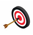 Target with dart isometric 3d icon vector image