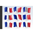 3d waving flag france isolated on white vector image