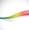 Abstract colorful flowing wave motion background vector image vector image