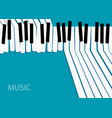 abstract music background white piano keys on vector image vector image