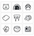 Bear icon set vector image