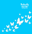 beautiful background with white paper butterfly vector image vector image