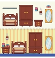 Bedroom with furniture vector image vector image