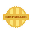 best seller gold vintage badge emblem graphic vector image vector image