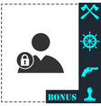 block user icon flat vector image vector image