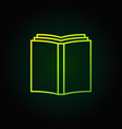 book simple green icon vector image vector image