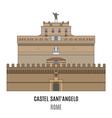 Castel SantAngelo vector image