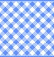 checkered blue and white plaid seamless pattern vector image vector image