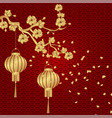 chinese new year stylized under the bronze of vector image vector image