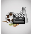 Cinema decorative poster vector image vector image
