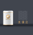 coffee packaging design template vector image vector image