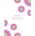 Color page corner design template vector image vector image