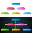 colorful pyramid chart vector image
