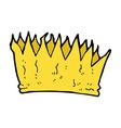 comic cartoon crown vector image vector image