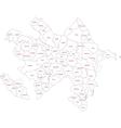 Contour Azerbaijan map vector image vector image