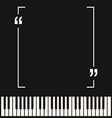 Copyspace frame on piano background vector image