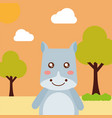 cute animal cartoon vector image vector image